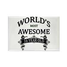 World's Most Awesome 16 Rectangle Magnet (10 pack)