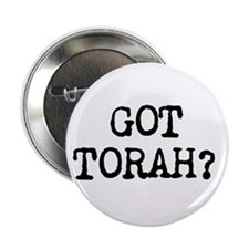 "Got Torah Pin (black) 2.25"" Button"