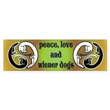 Wiener Dog Harmony Bumper Bumper Sticker