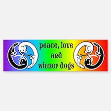 Wiener Dog Harmony Bumper Bumper Bumper Sticker