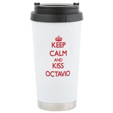 Keep Calm and Kiss Octavio Travel Mug