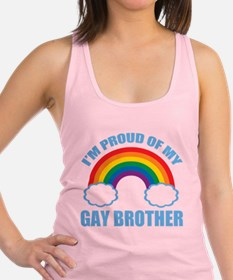 My Gay Brother Racerback Tank Top