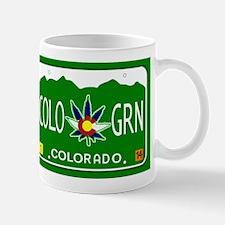 Colorado Marijuana License Plate Mugs