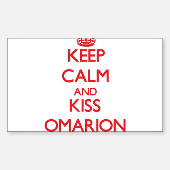 Keep Calm and Kiss Omarion Decal