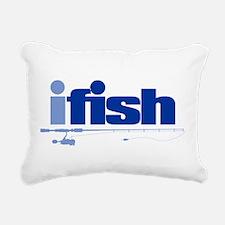 ifish (rod) Rectangular Canvas Pillow