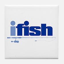 ifish (rod) Tile Coaster