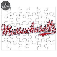 Massachusetts Script Font Puzzle