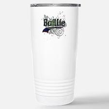 Baillie Tartan Grunge Stainless Steel Travel Mug