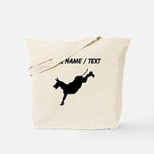 Custom Donkey Kick Silhouette Tote Bag