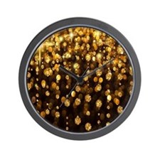 Gold Sparkles Wall Clock