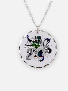 Baillie Tartan Lion Necklace