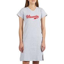 Wisconsin Script Font Women's Nightshirt