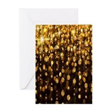 Gold Sparkles Greeting Cards