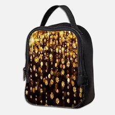 Gold Sparkles Neoprene Lunch Bag
