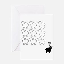 Black Sheep Card Greeting Cards