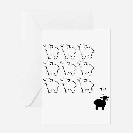 Black Sheep Card Greeting Cards
