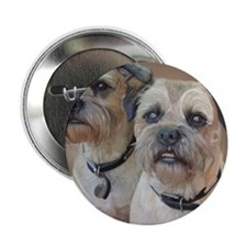 """Two Border Terriers  2.25"""" Button"""