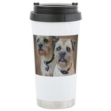 Two Border Terriers  Travel Mug