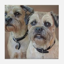 Two Border Terriers  Tile Coaster