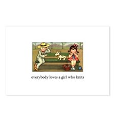 Everybody Loves a Girl Who Kn Postcards (Package o