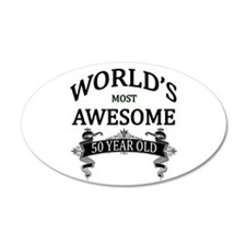 World's Most Awesome 50 Year Wall Decal
