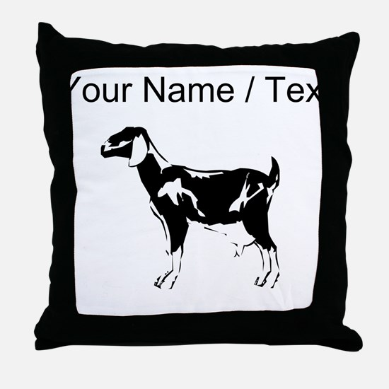 Custom Billie Goat Silhouette Throw Pillow