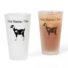 Custom Billie Goat Silhouette Drinking Glass