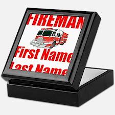 Fireman Keepsake Box