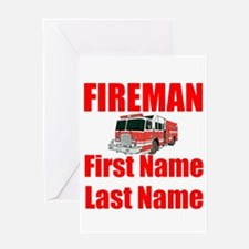 Fireman Greeting Cards
