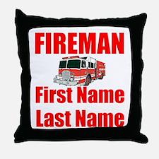 Fireman Throw Pillow