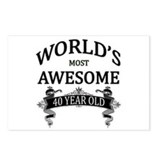 World's Most Awesome 40 Y Postcards (Package of 8)