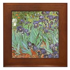 Irises-mousepad Framed Tile