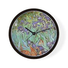 Irises-mousepad Wall Clock