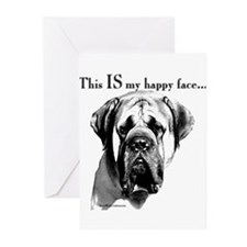 Unique Mastiff Greeting Cards (Pk of 20)