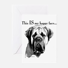 Cute English mastiff Greeting Cards (Pk of 20)