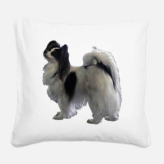 Cute Papillion Square Canvas Pillow