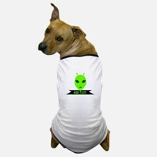 Plaid Eyed Green Alien Head Dog T-Shirt