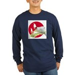 Japanese Yokohamas Long Sleeve Dark T-Shirt