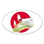 Japanese Yokohamas Oval Sticker