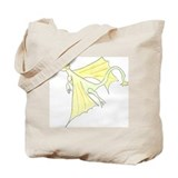 Flying dragon cartoon Canvas Totes