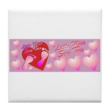 Little Miss Sexy Toes Tile Coaster