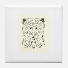 Celtic Wedding design Tile Coaster