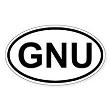 GNU Oval Decal
