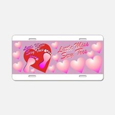 Little Miss Sexy Toes Aluminum License Plate