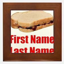 Peanut butter and Jelly Sandwich Framed Tile