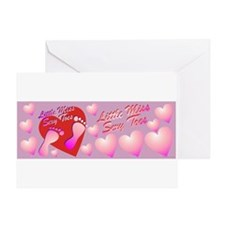 Little Miss Sexy Toes Greeting Cards