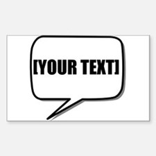 Word Bubble Personalize It! Decal