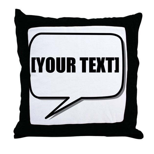 Throw Pillow With The Word Home On It : Word Bubble Personalize It! Throw Pillow by TeesParty