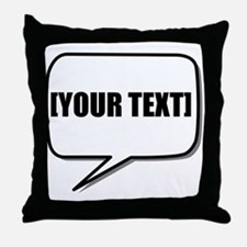 Word Bubble Personalize It! Throw Pillow