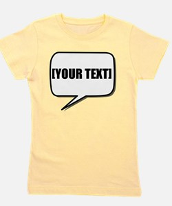 Word Bubble Personalize It! Girl's Tee